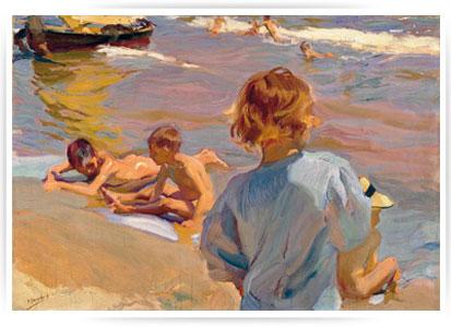 niños en la playa 5